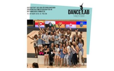Gastauftritt bei den Österreichischen  Gruppenstaatsmeisterschaften in  rhythmischer Gymnastik