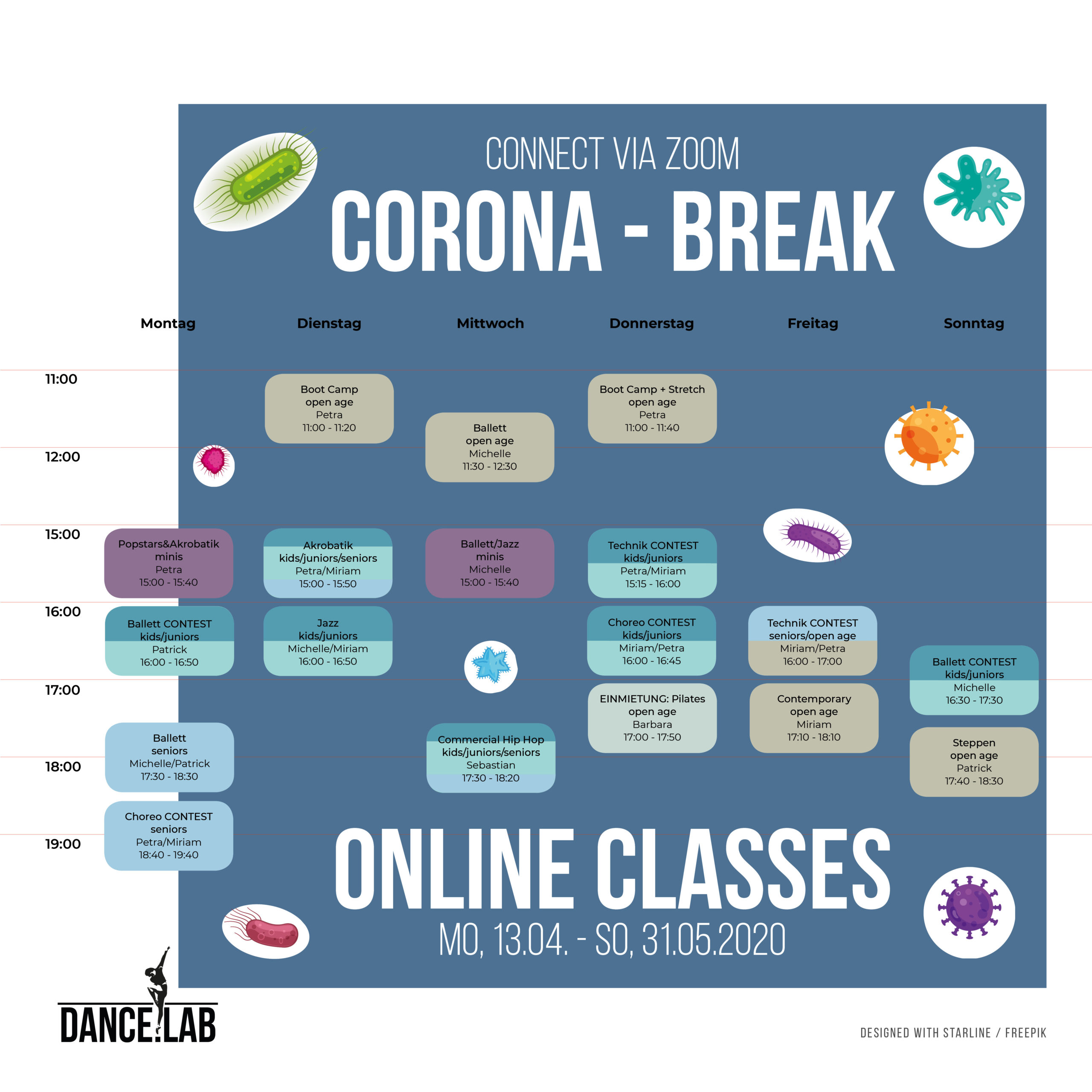 Corona Break - Online Classes - 13.04. – 31.05.2020